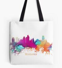 Minneapolis Skyline City watercolor Tote Bag