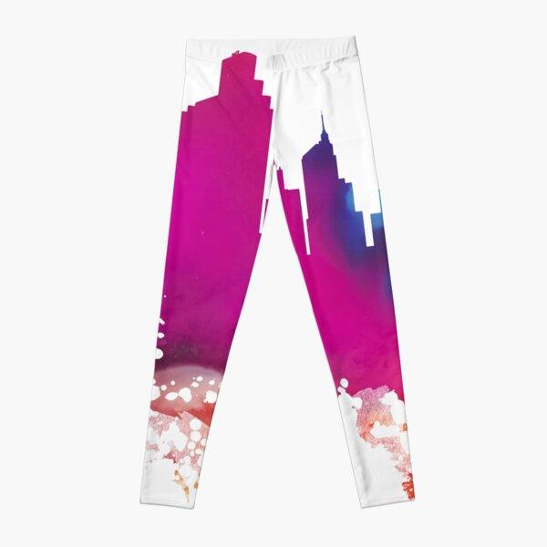 Minneapolis Skyline City watercolor Leggings