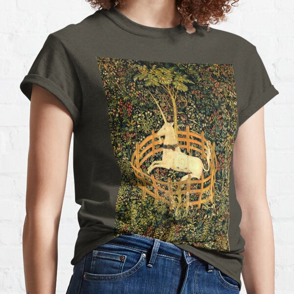 The Unicorn in Captivity - On view at The Met Cloisters -Gallery 17 Classic T-Shirt
