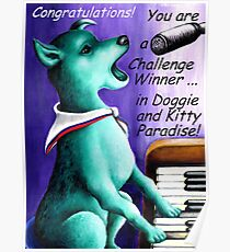 Challenge entry 'Doggie and Kitty Paradise' Poster