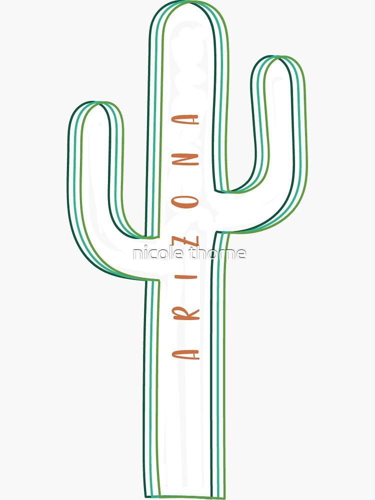 AZ Cactus Outline by nthorne8