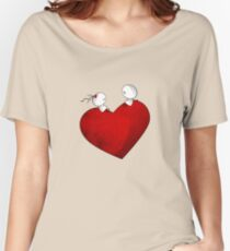 Sitting on a big & Lovely Red Heart - T-Shirt Women's Relaxed Fit T-Shirt