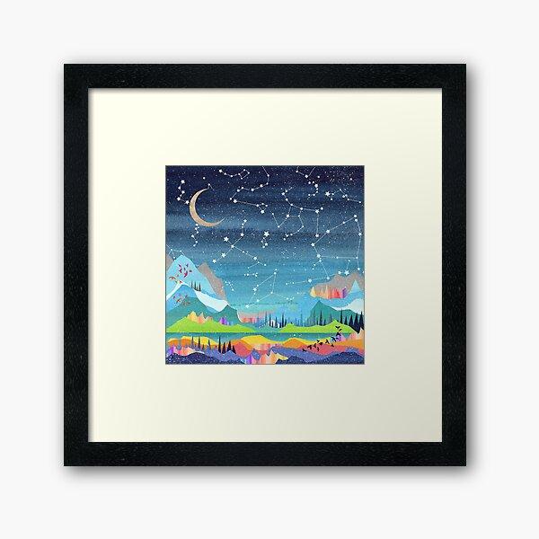 Summer Constellations Framed Art Print
