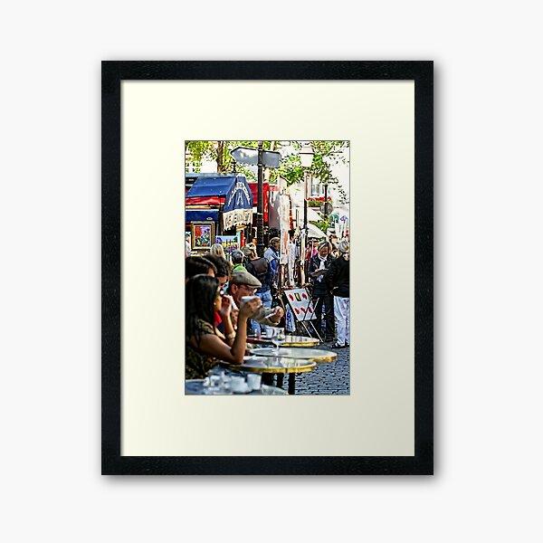 Montmartre café, Paris Framed Art Print