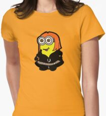 Minvengers - Yellow Widow Womens Fitted T-Shirt
