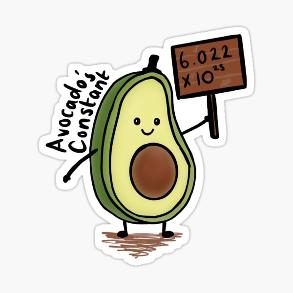 Avocado's constant  Sticker
