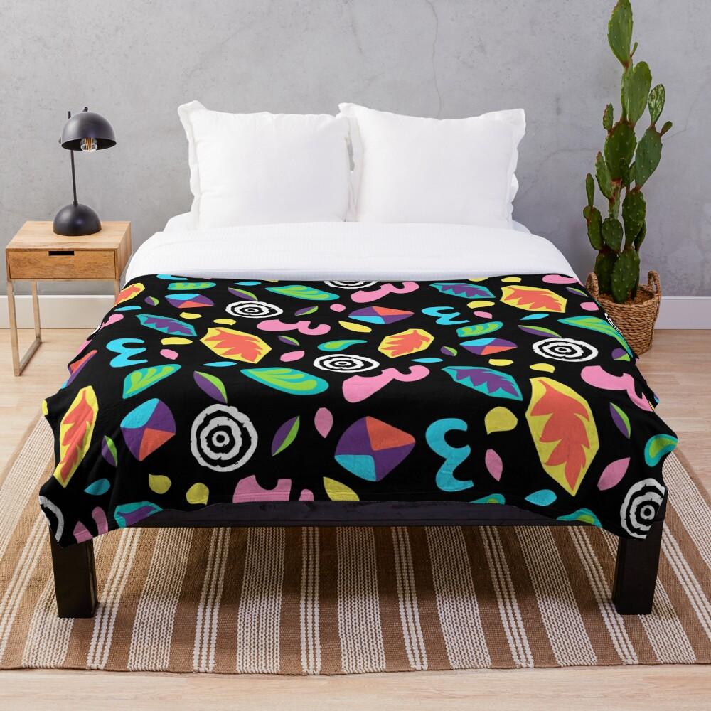 Eleven romper pattern Throw Blanket