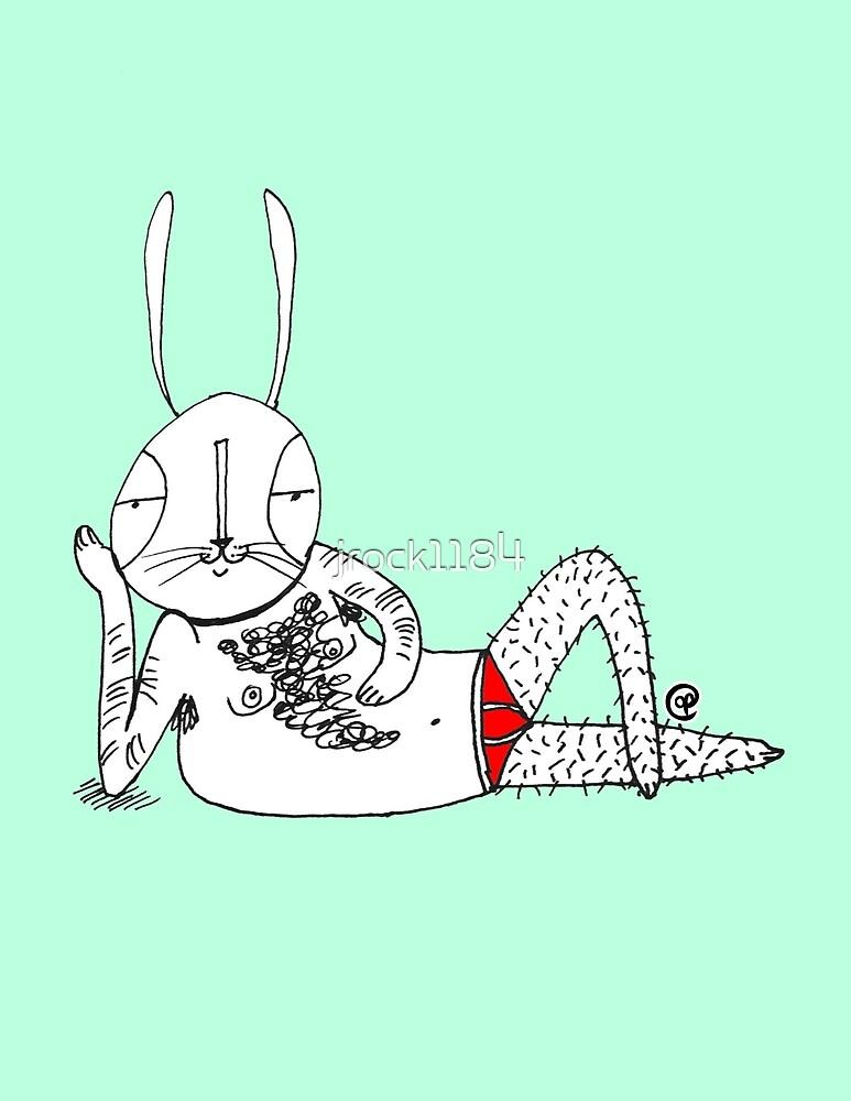 sexy bunny reclining by jrock1184