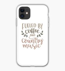 fueled by coffee and country music iPhone Case