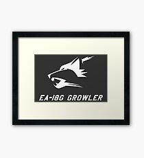 EA-18G Growler - WHITE Framed Print
