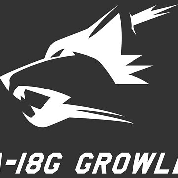EA-18G Growler - WHITE by Downwind