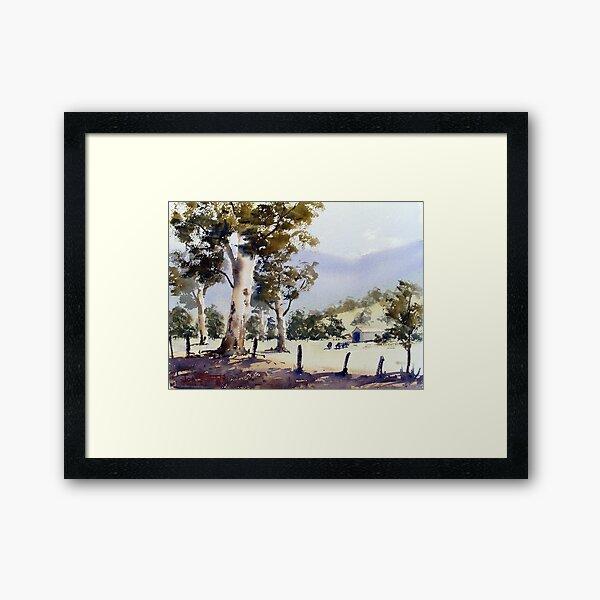 Road to Dunn's Swamp, NSW Framed Art Print