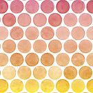 Pink Lemonade Summertime Watercolour Polkadots by Bazuta