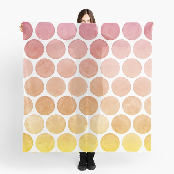 Pink Lemonade Summertime Watercolour Polkadots Scarf