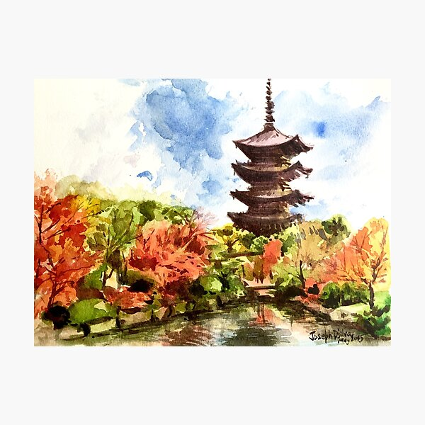 Kyoto Japanese Garden and Temple Photographic Print