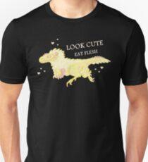 Fluffy Dinosaurs - Look Cute, Eat Flesh T-Shirt