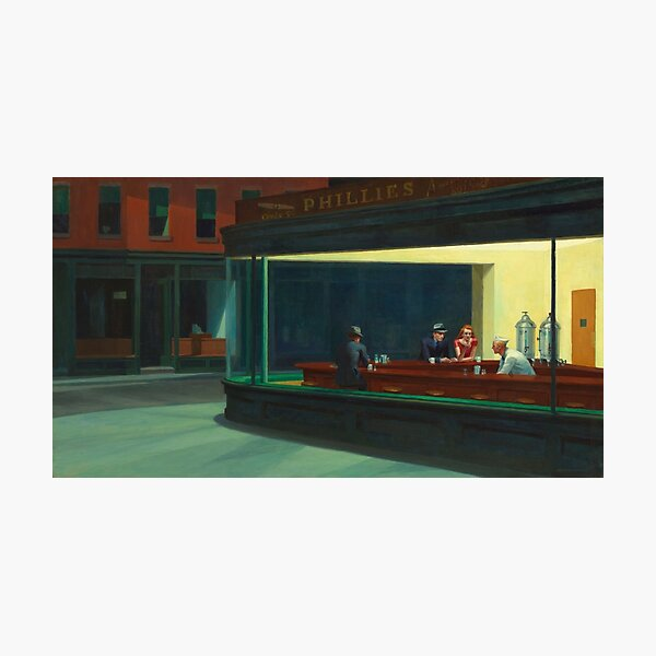 Nighthawks by Edward Hopper 1942 Photographic Print