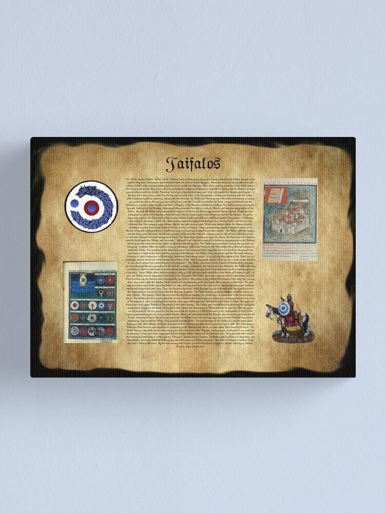 Alternate view of Taifalos Heraldic Wall Banner Canvas Print