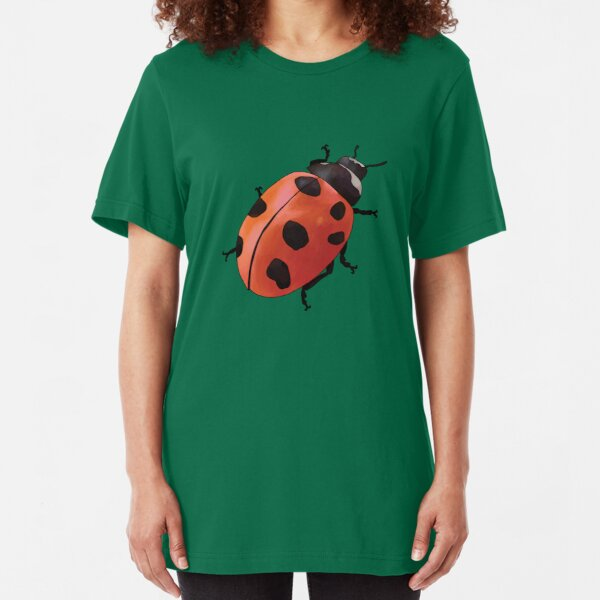 Nine-spotted Ladybug   Coccinella novemnotata Slim Fit T-Shirt