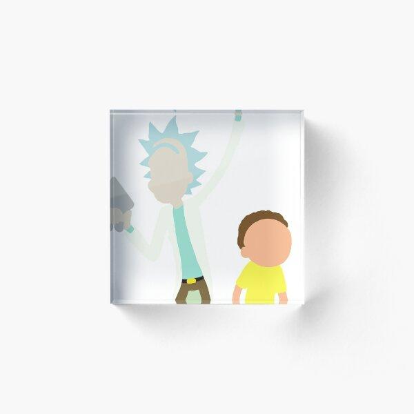 Rick and Morty Acrylic Block