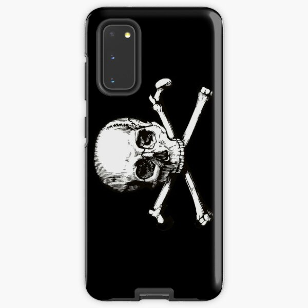 Skull and Crossbones | Jolly Roger | Pirate Flag | Deaths Head | Black and White | Skulls and Skeletons | Vintage Skulls | Samsung Galaxy Tough Case
