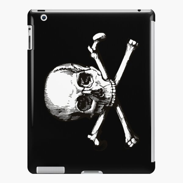 Skull and Crossbones | Jolly Roger | Pirate Flag | Deaths Head | Black and White | Skulls and Skeletons | Vintage Skulls | iPad Snap Case