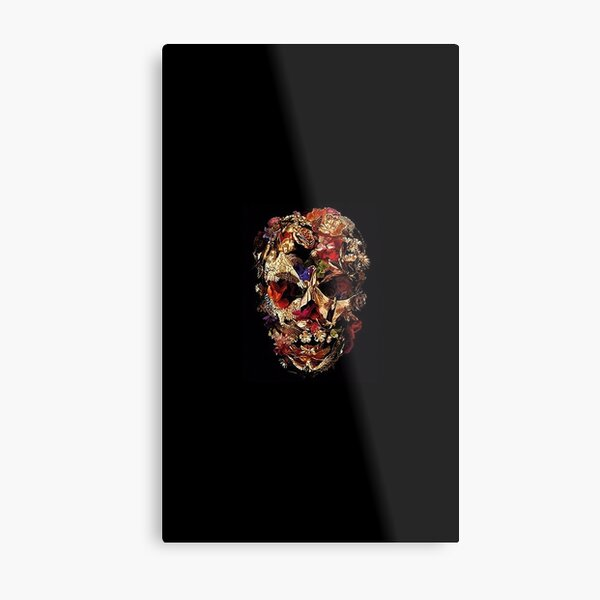 Alexander McQueen Mask Savage Beauty Metal Print