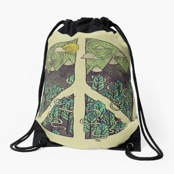 Peaceful Landscape Drawstring Bag
