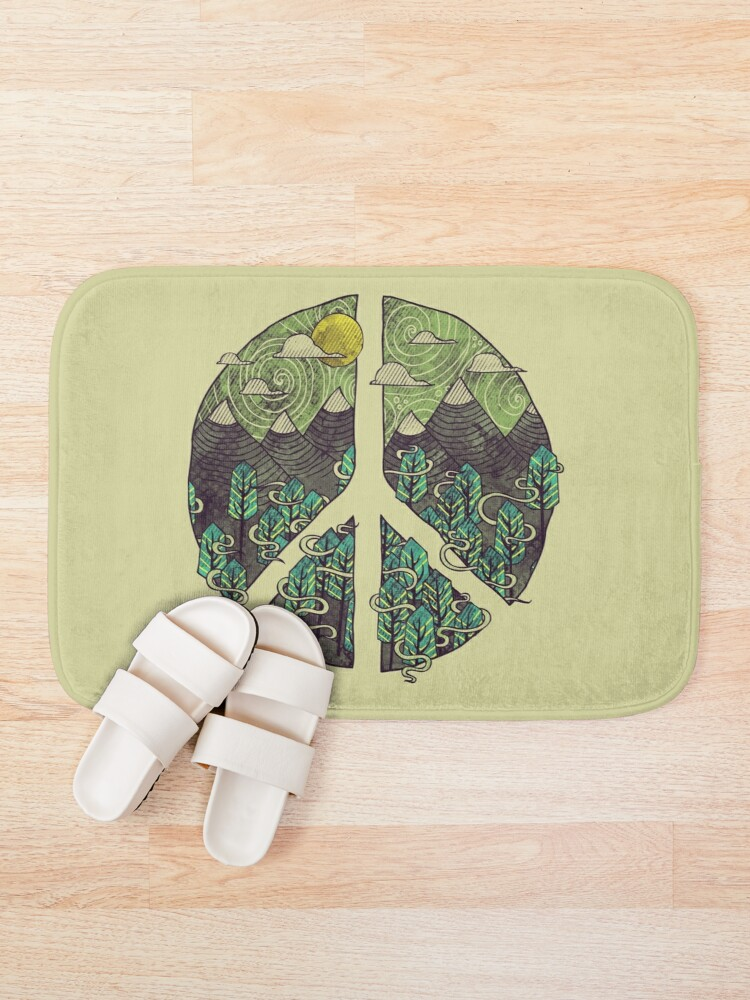 Alternate view of Peaceful Landscape Bath Mat