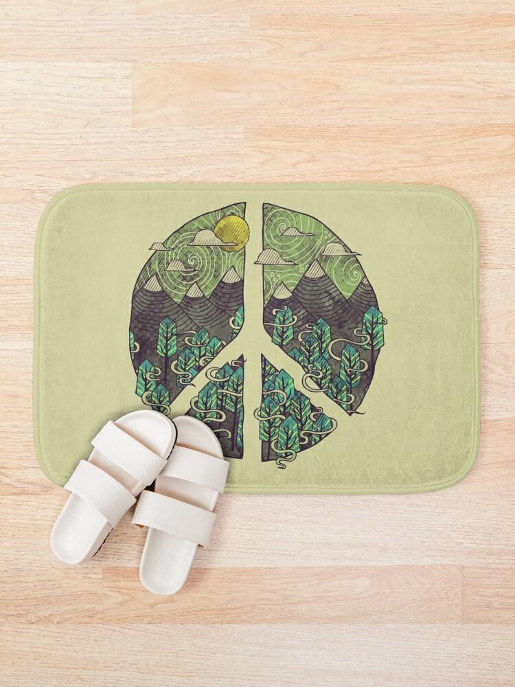 Alternate view of Peaceful Landscape Bath Mat