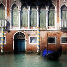 Venice, Canal Grande view with gondola by gameover