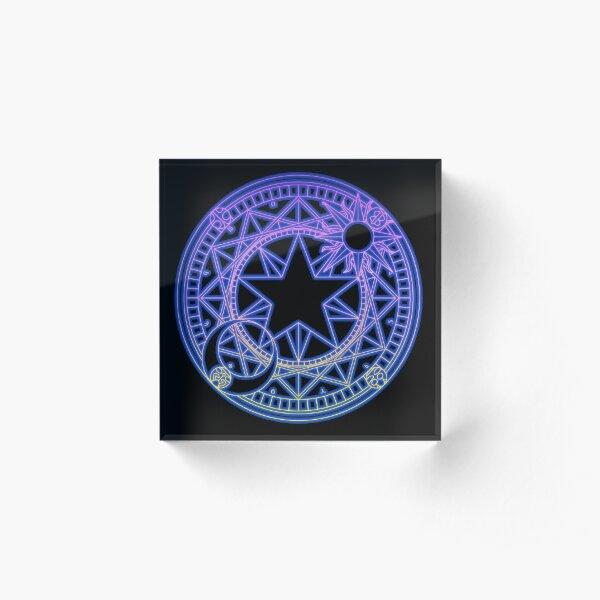 Neon Clow Symbol Acrylic Block