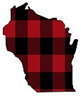 Wisconsin in Red Plaid by Sun Dog Montana