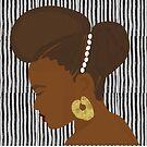 « Coiffure traditionelle africaine femme peule » par bintadesigns
