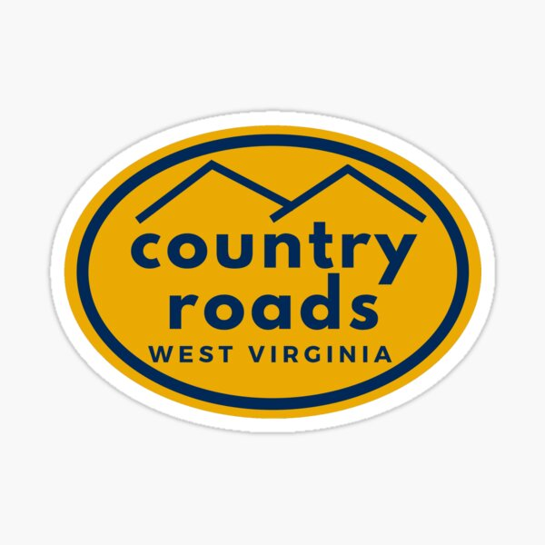 Country Roads West Virginia Sticker