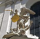 St. Michael slaying Lucifer  by Lee d'Entremont