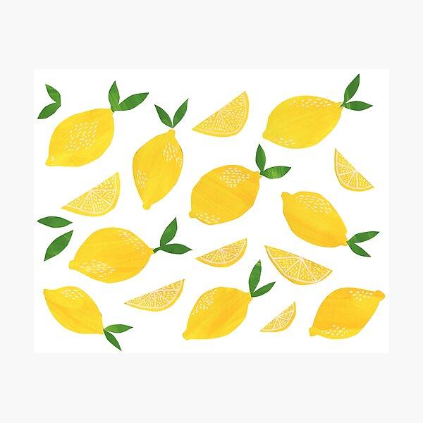 Cut + Paste Lemon Pattern Photographic Print