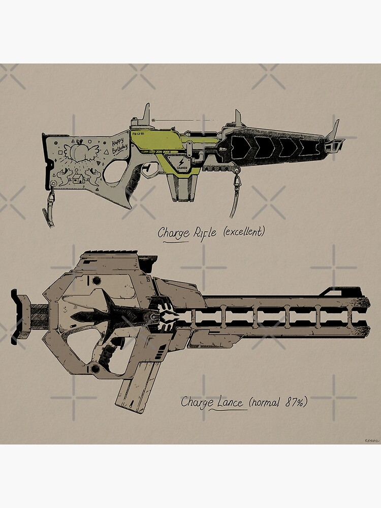 """""""RimWorld Spacer Guns"""" Poster by epebe 