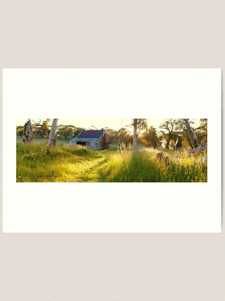 Alternate view of Gooandra Homestead, Kosciuszko, New South Wales, Australia Art Print