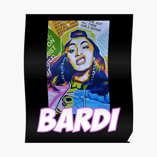 Cardi B Print//poster Bardi gang rap music bodak yellow