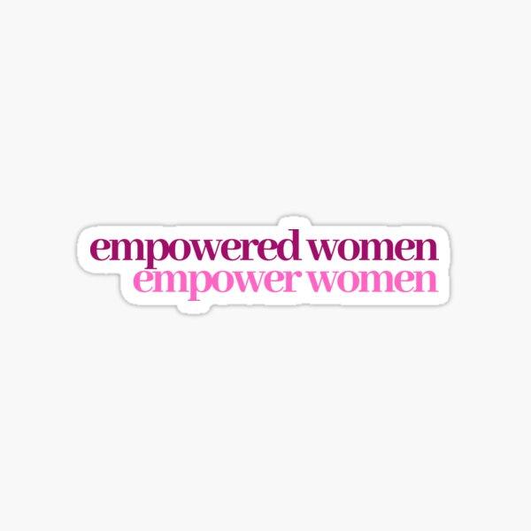 women empowerment sticker Sticker