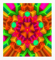 3D Pattern in a Vivid Wild Colors and Unique Style! Photographic Print