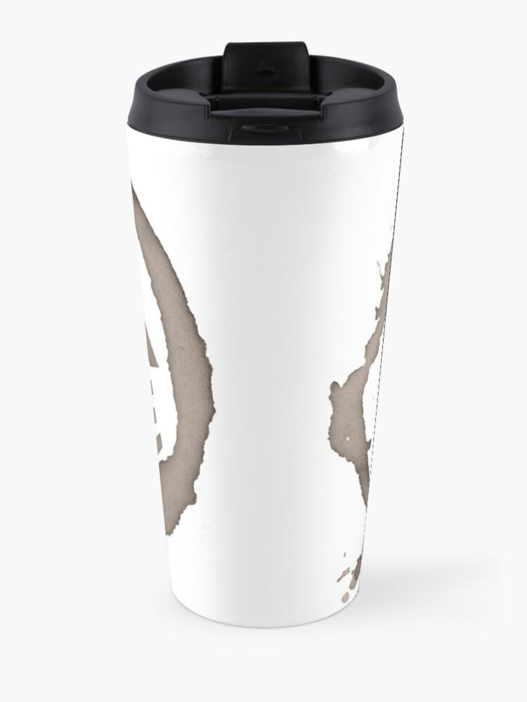 Alternate view of one black coffee Travel Mug