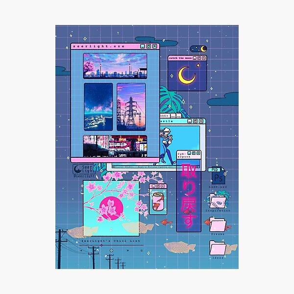 SeerLight desktop night Photographic Print