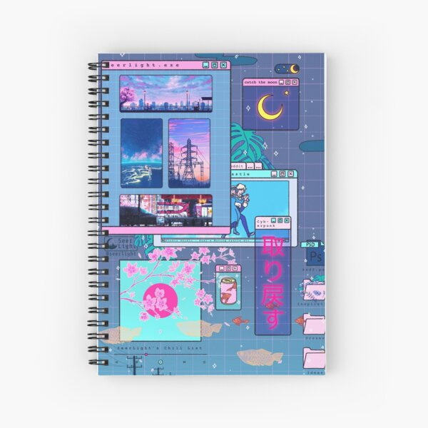 SeerLight desktop night Spiral Notebook