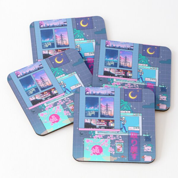 SeerLight desktop night Coasters (Set of 4)