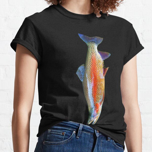 Rainbow Trout Fishing, Fish Tie Classic T-Shirt