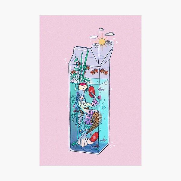 Tanabata Mermaid Drink Photographic Print
