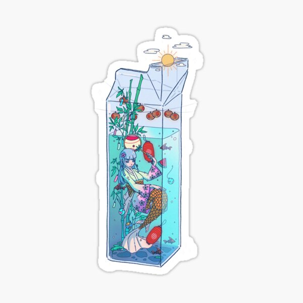 Tanabata Mermaid Drink Sticker