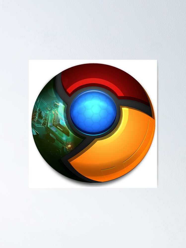 Google Chrome Computer Icons Web Browser Poster By Anitaharalo Redbubble
